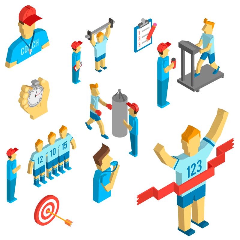 Illustration de coach sportif